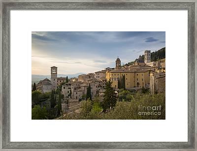Assisi Evening Framed Print by Brian Jannsen