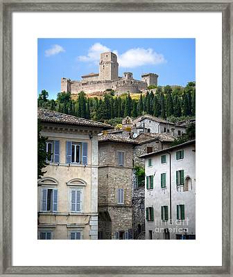 Assisi Italy - Rocca Maggiore - 02 Framed Print