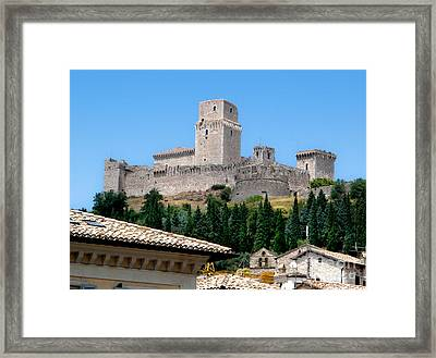 Assisi Italy - Rocca Maggiore Framed Print