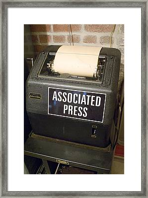 Associated Press Teletype Machine Framed Print by Mark Williamson