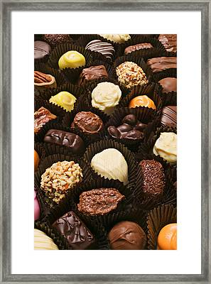 Assorted Candy Framed Print by Garry Gay