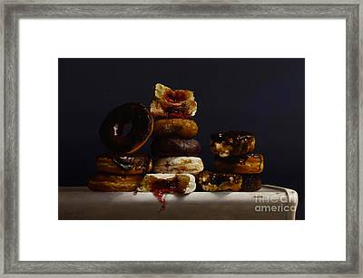 Assorted Donuts Framed Print by Larry Preston