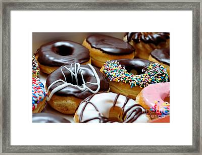 Assorted Doughnuts Close-up Picture Framed Print