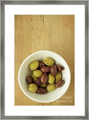 Assorted Greek Olives  Framed Print by Edward Fielding