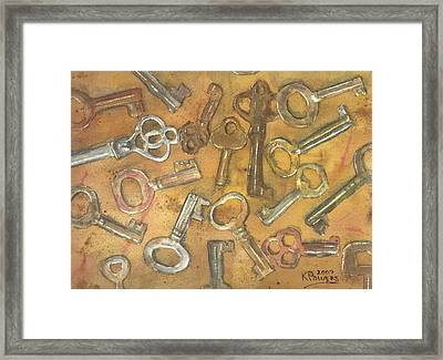 Assorted Skeleton Keys Framed Print by Ken Powers