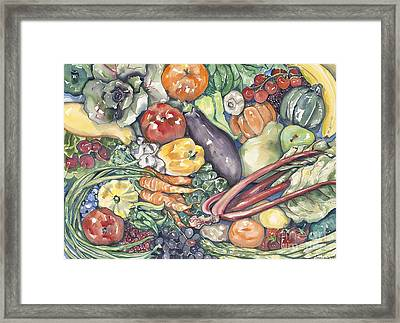 Assorted Vegetables Framed Print by Annie Laurie