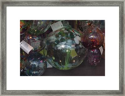 Framed Print featuring the photograph Assorted Witching Balls by Suzanne Gaff