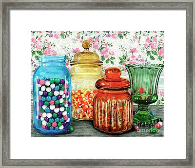 Assortment Of Color And Taste	Color Pencil On Paper Framed Print