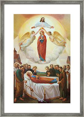 Assumption Of The Blessed Virgin Mary Into Heaven Framed Print by Svitozar Nenyuk