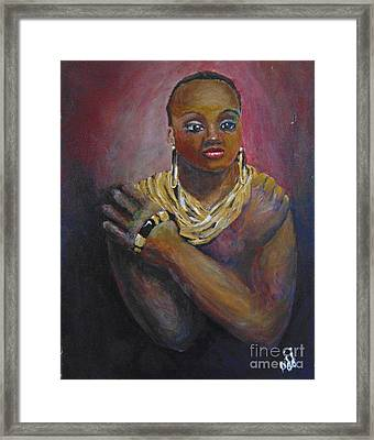 Framed Print featuring the painting Assured by Saundra Johnson