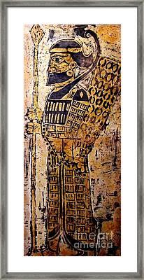 Assyrian Soldier Framed Print