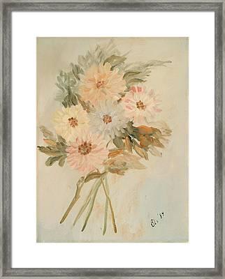 Aster Bouquet Framed Print by Betty Stevens