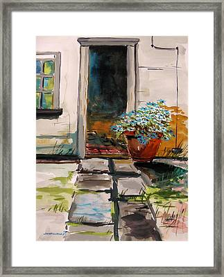 Aster By The Door Framed Print by John Williams