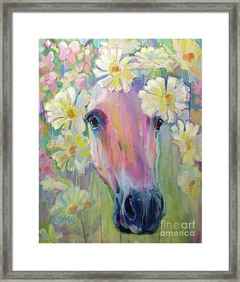 Aster Framed Print by Kimberly Santini