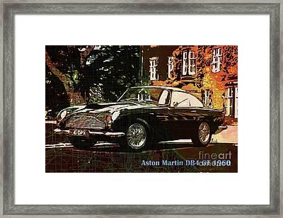 Aston Martin Db4 Gt 1960 On Old Chicago Map Framed Print