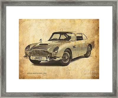 Aston Martin Db5 1965 Framed Print by Pablo Franchi