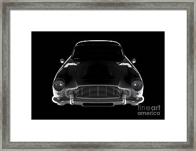 Aston Martin Db5 - Front View Framed Print