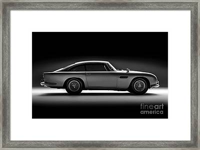 Aston Martin Db5 Framed Print by Mohamed Elkhamisy