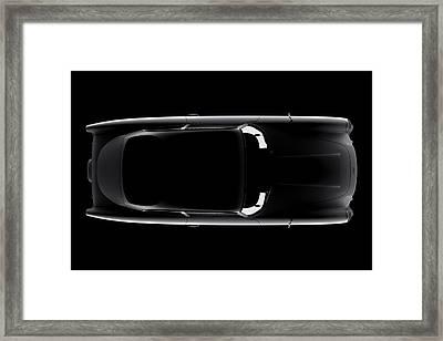 Aston Martin Db5 - Top View Framed Print