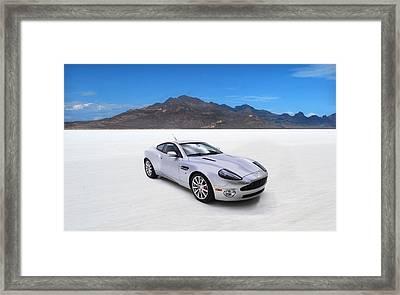 Aston Martin Vanquish Framed Print by Mark Rogan