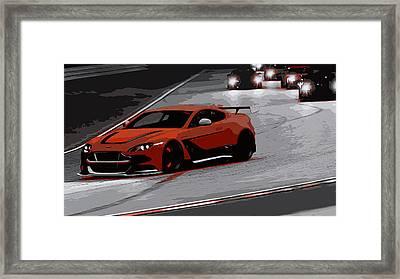 Aston Martin Vantage Gt12 Framed Print by Andrea Mazzocchetti