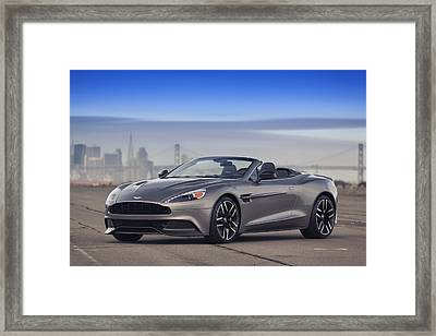 Framed Print featuring the photograph Aston Vanquish Convertible by ItzKirb Photography