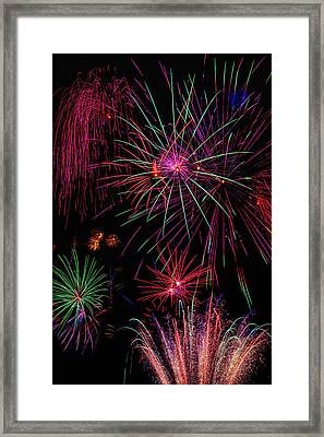 Astonishing Fireworks Framed Print