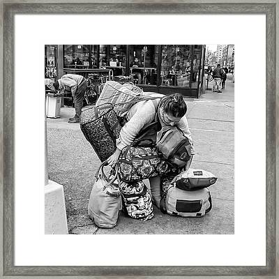 Bag Lady Framed Print