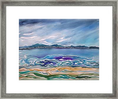 Astoria Oregon Flow Framed Print by Michael Richardson