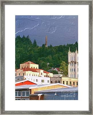 Astoria Oregon Framed Print by Methune Hively