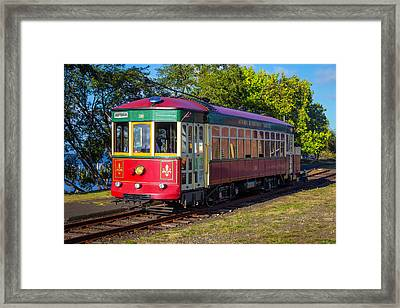 Astoria Riverfront Trolly Framed Print by Garry Gay