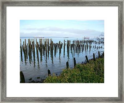 Astoria Ships  Framed Print