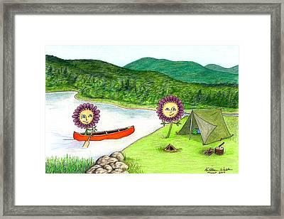 Astors Camping Framed Print by Kathleen Walker