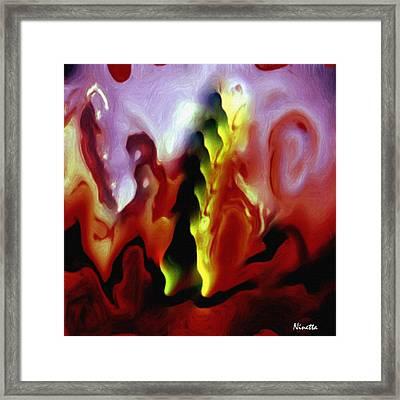 Astral Body Framed Print by Andrea N Hernandez