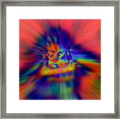 Astral Flight While Awake Framed Print by Fania Simon