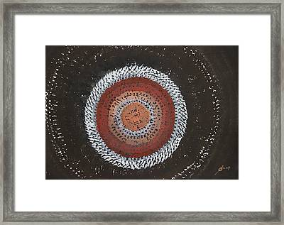 Astral Flower Original Painting Framed Print by Sol Luckman