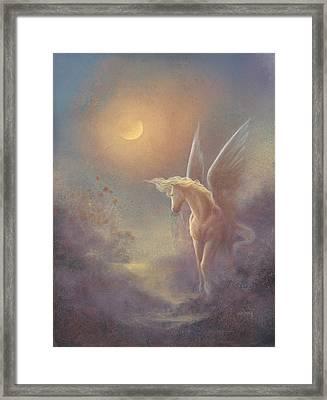 Astral Pegasus Framed Print by Jack Shalatain