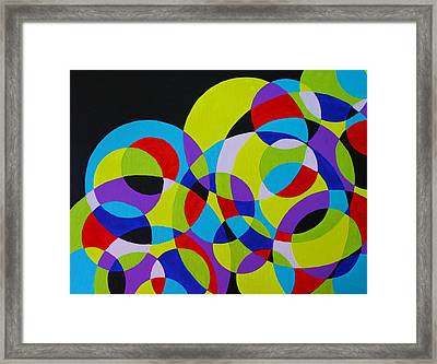 Framed Print featuring the painting Astral by Polly Castor