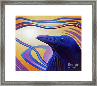 Astral Raven Framed Print