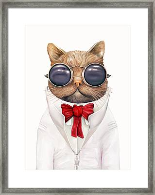 Astro Cat Framed Print by Animal Crew