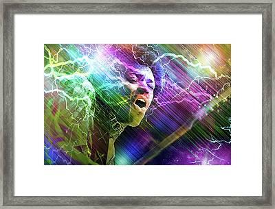 Astro Man Framed Print by Mal Bray