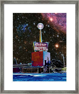 Framed Print featuring the photograph Astro Motel by Jim and Emily Bush