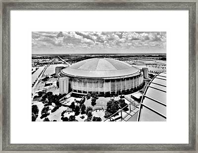 Framed Print featuring the photograph Astrodome 5 by Benjamin Yeager
