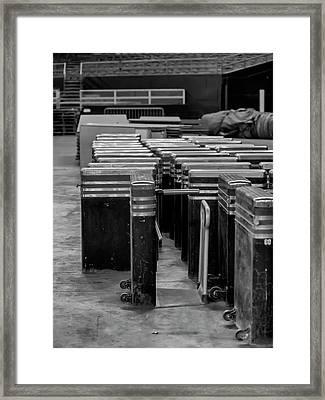 Astrodome Turnstile Framed Print