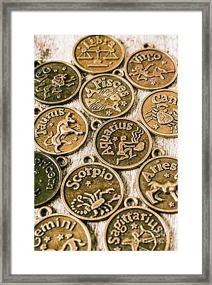 Astrology Charms Framed Print