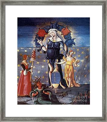 Astrology With Fates Framed Print by Granger