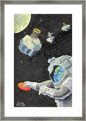 Astronaut Disc Golf Framed Print