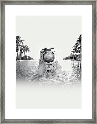 Astronaut Framed Print by Fran Rodriguez
