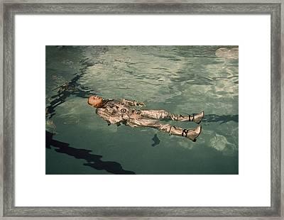 Astronaut Neil Armstrong Floats Framed Print