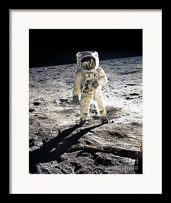 Neil Armstrong The Moon Framed Prints